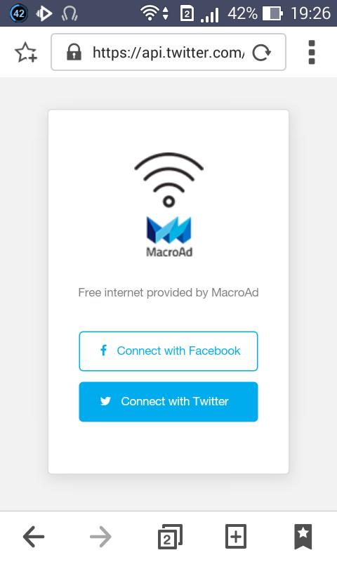 Penampakkan Autentikasi Login Untuk Mengakses Free WiFi MacroAd - RenaldiRey.ID