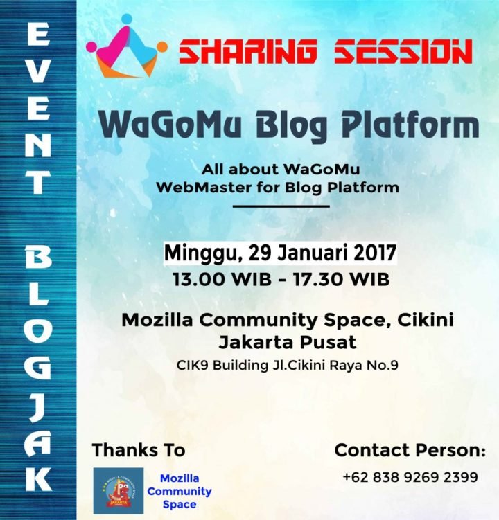 Sharing Session WaGoMu Blog Platform