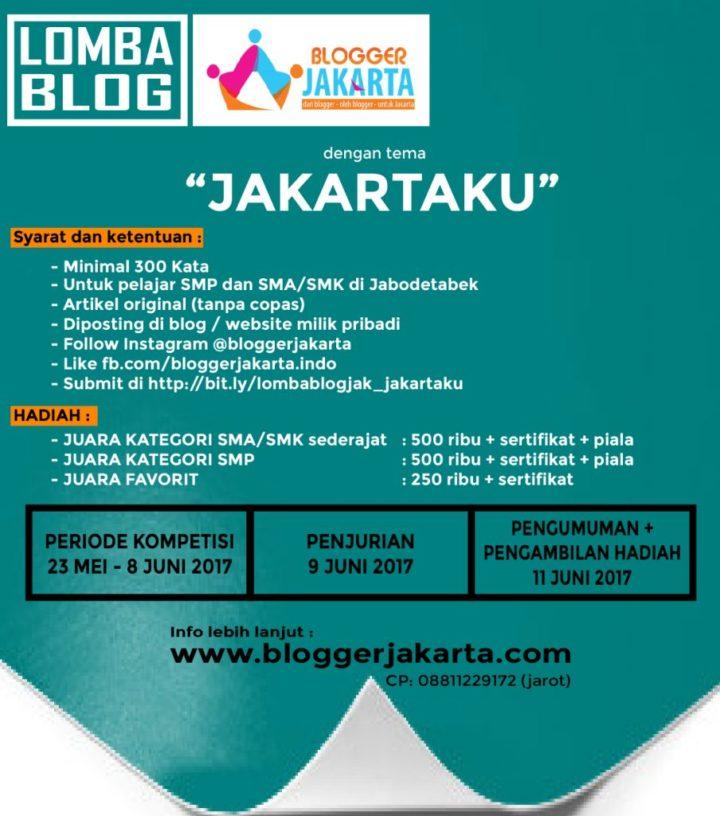 RenaldiRey.ID - Konten ini berisikan tentang informasi lomba blog / blog competition yang diadakan oleh Komunitas Blogger Jakarta.