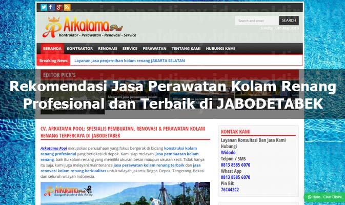 Rekomendasi Jasa Perawatan Kolam Renang Profesional dan Terbaik di JABODETABEK